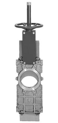 type B knife gate shutoff valve
