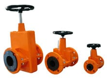 OV manual pinch valves with hand wheel