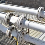 VF Pinch Valves installed onto pipework passing carbonates