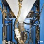 rubber bladder valves on machine