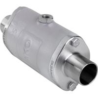 DN25-Pinch Valve with Weld-on end acc. to DIN 11850 row 2