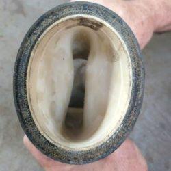 collapsed pinch valve sleeve