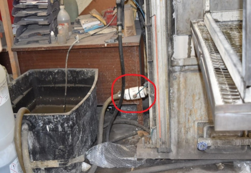 valve for blast washing